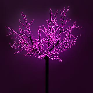 Светодиодное дерево ARD-CHERRY-PRO2-2.4M-1728LED Pink (220V, 210W) (ARDCL, IP65)